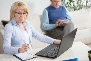 portrait of a woman using laptop